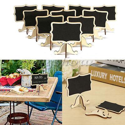 10X Mini Wooden Chalkboard Blackboard Message TableNumber Wedding Party Decor CM