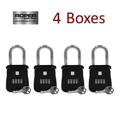 Lot Of 4 Key Lock Box For Realtor Real Estate Reo - Door Hanger