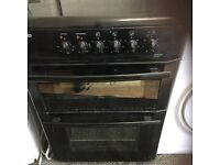 Beko 60 cm black glass top cooker in mint condition