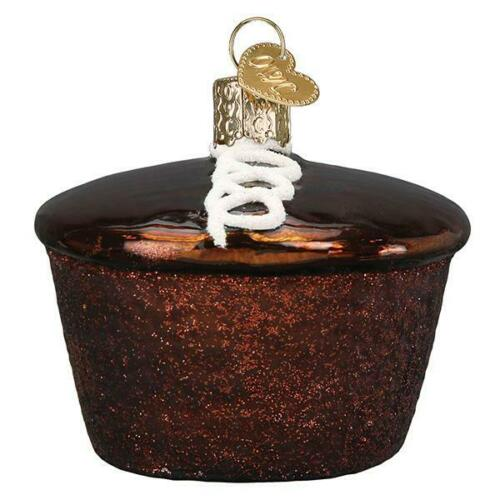 Old World Christmas HOSTESS CUPCAKE (32438)N Glass Ornament w/ OWC Box