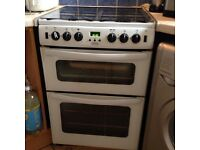 Belling GT721 White Gas Double Oven Cooker 60cm Used For Quick Sale