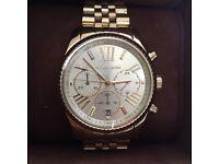 Michael Kors Ladies Wrist Watch Brand New Gold RRP £229.00