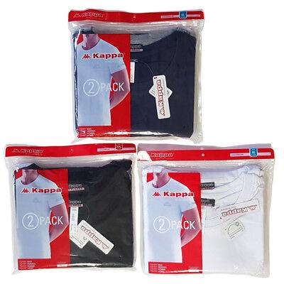 2 Pack Nachthemd (2x Pack Kappa Tobias Herren Tshirt T-Shirt Unterhemd Nachthemd 100% Baumwolle)