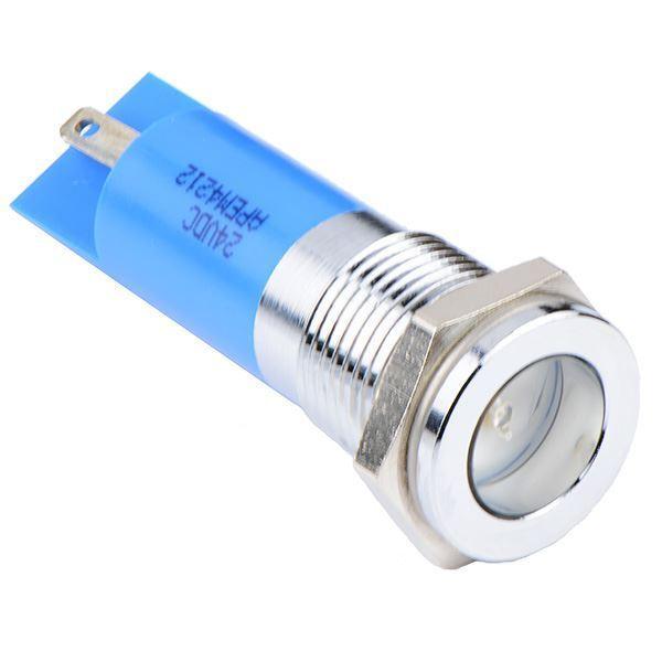 Blue LED 14mm Panel Indicator Light 12VDC APEM
