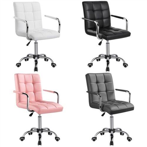 Computer Desk Chair, Adjustable Office Executive Task Vanity Swivel Chair Wheels