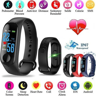 Smart Band Watch Bracelet Wristband Fitness Tracker Blood Pressure Heart Rate - Smart Watch