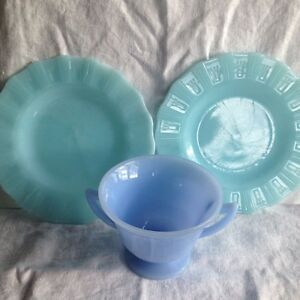 Pyrex (blue) & Lusterware (orange)