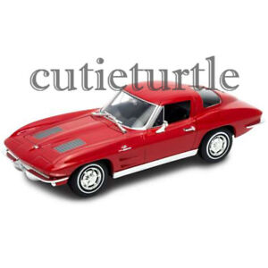 Welly 1963 Chevrolet Corvette 1:24 Diecast Model Car 24073-4D Red