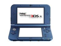 New 3ds xl metallic blue + Pokemon sun