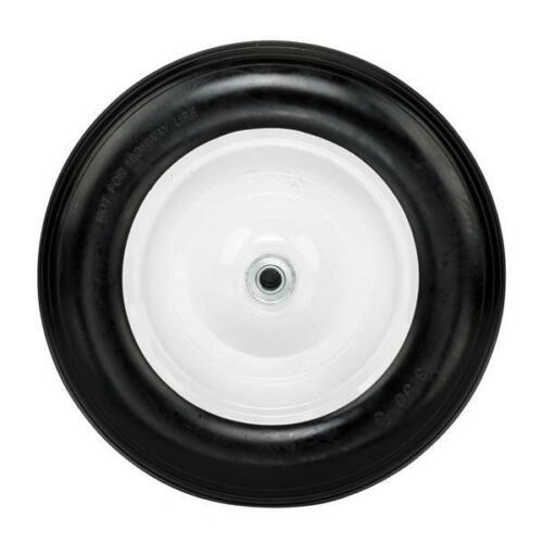"14.2"" Flat Free Wheel Barrow Wheelbarrow Tire Solid Foam 5/8 Axle Cart Wagon"