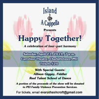 "Island A Cappella ""Happy Together"" Tickets Available Now!"