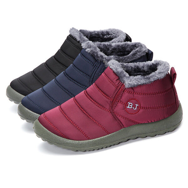 BJ New beautiful women shoes Warm Wool Lining Flat Ankle Sno