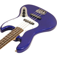 Squire Purple P Bass With Rumble 15 Amp