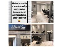 Chair to rent in new salon..city centre