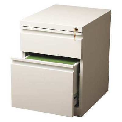 20 In. Deep Two-drawer Mobile Pedestal File Cabinet White Hirsh 19309