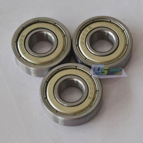 1x Roller Bears 6001 ZZ  Metal Sealed Deep Groove Ball Bearing 12 x 28 x 8mm New