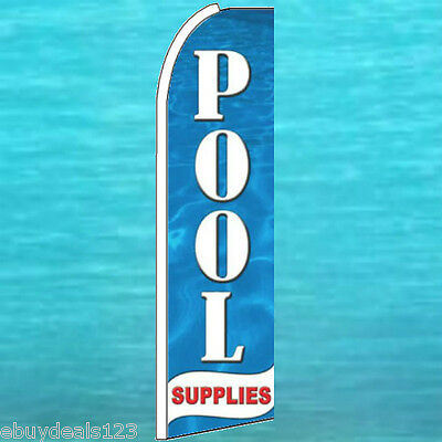 POOL SUPPLIES FLUTTER FEATHER FLAG Vertical Advertising Sign Bow Banner Swooper