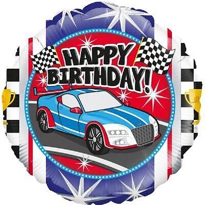 Sports Race Car Happy Birthday Foil Balloon 46cm (18in)