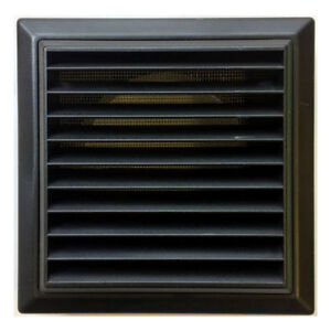 External Ventilation Grille Cover Outlet for Extractor Fan 100 mm / 4 Inch Black