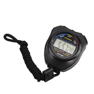 Digital LCD Sports Stopwatch Stop Watch Counter Timer