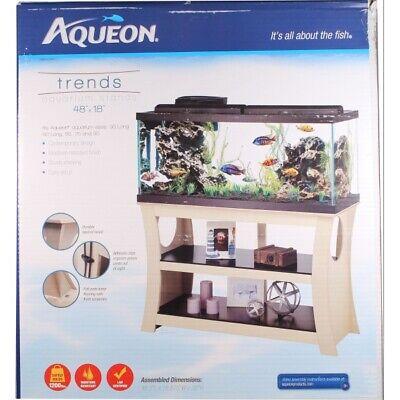 """Aqueon Trends Aquarium Stand (48X18X30""""H) Fit Aquarium 33 & 40 Long,55,75,90"""