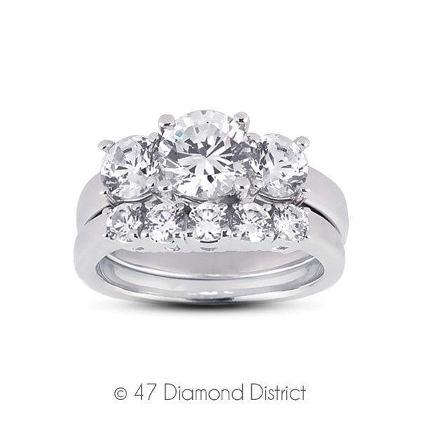 4.12ct. Tw. D-vvs1 Ex Round Diamonds 950plt Classic Basket Three-stone Set 19.9g