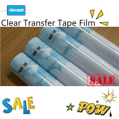 18 Rolls 9 X 11 Yards Clear Transfer Tape Film For Vinyl Graphics Application