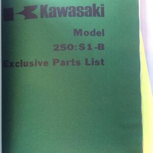73 74 75 76 Kawasaki S1 A B C 250 Parts Catalogue Regina Regina Area image 3