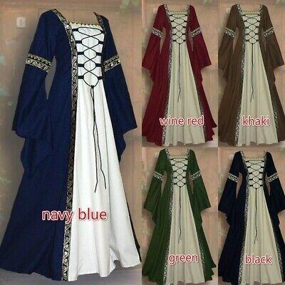 Ladies Medieval Fancy Dress (Women Costume Medieval Maiden Fancy Cosplay Over Dress Victorian Dress)