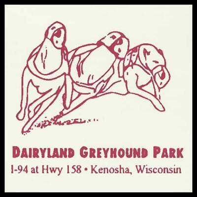 Dairyland Greyhound Park Kenosha Wisconsin Fridge Magnet