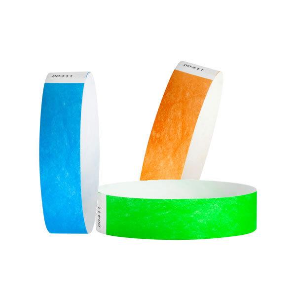 "50 Custom Printed Aqua 1/"" Tyvek Paper Wristbands for Events,Festivals,Parties"
