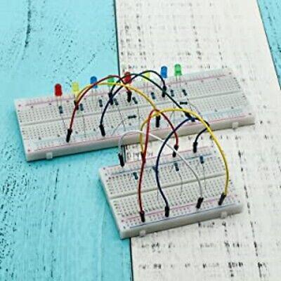 4pcs Breadboards Kit Include 2pcs 830 Point 2pcs 400 Point Solderless Breadboard
