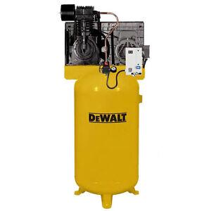 Dewalt 7 5 hp 80 gallon two stage air compressor 230v 1 phase for 7 5 hp air compressor motor