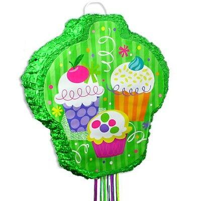 Zugpinata Cup Cake-Design, ca. 52x46x8cm, Pullpinata  Mottogeburtstag Muffins,