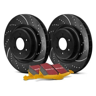 For Cadillac ATS 16-19 Brake Kit EBC Stage 5 Super Street Dimpled & Slotted