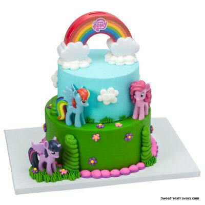 My Little Pony Birthday Cake Kit (MY LITTLE PONY Cake Birthday Party Decoration Favors Topper Rainbow Horses Kit)