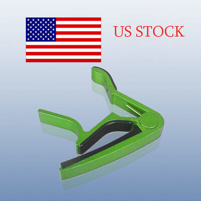 Green Metal Spring Trigger Guitar Capo For Electric&Acoustic Guitar ON SALE