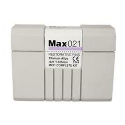 Coltene Whaledent M-21 Max Restorative Pins Titanium Alloy Kit .021 20pk