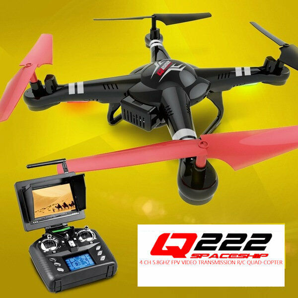 WLTOYS RC Drone Wltoys Q222G Quadcopter FPV 5.8Ghz Camera 2.4G 4CH Black