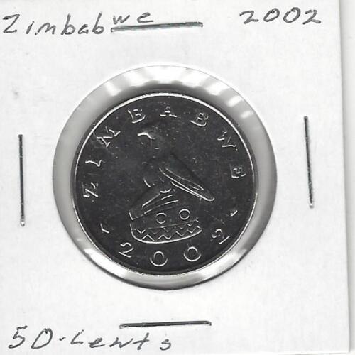 Zimbabwe 50 Cents, 2002