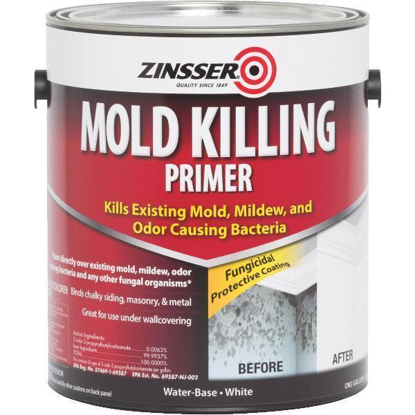1 Gal White Water-Based Zinsser Mold Killing Interior/Exterior Primer 276049