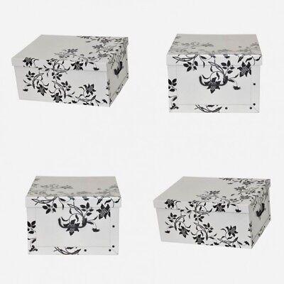 4 x Dekokarton Karton Geschenkkarton Box Schachtel Box Aufbewahrungsbox Barock W