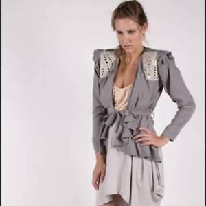 """Hussy """"Reflective"""" Grey Waterfall Jacket St Peters Marrickville Area Preview"""