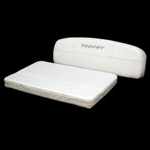 Bayliner 1966153 Trophy 163 183cc 181by White Boat Bench Seat Cushion Set Ebay