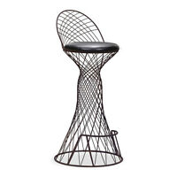 33.5 INCHES LEATHERETTE & METAL BAR STOOL ON CLEARANCE