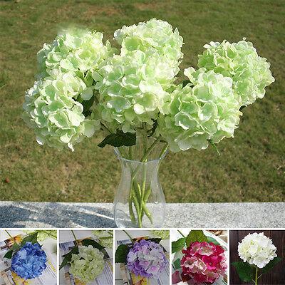 Faux Artificial Silk Floral Flower Bouquet Hydrangea Party Decor Craft