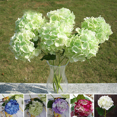 Faux Artificial Silk Floral Flower Bouquet Hydrangea ...