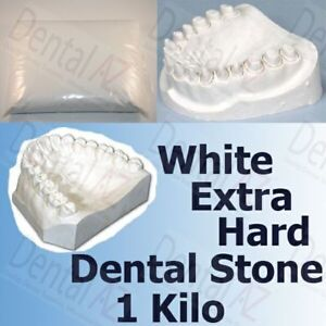 Dental Extra Hard Stone #3 WHITE Casting Plaster Orthodontic Stone, 1 kg
