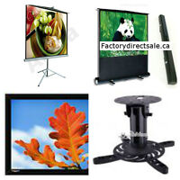 ★Fixed Frame Projection Screen,white, Projector mount