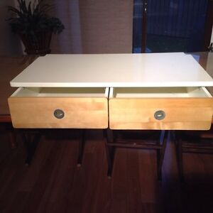 Counter top double drawer  cabinet